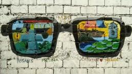 bril, toekomst, grafitti