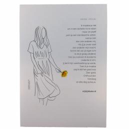 poster, Lume, mooie, vrouw