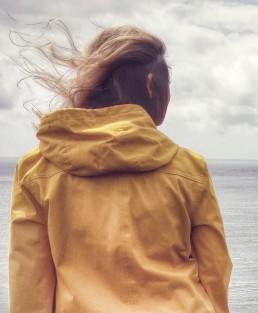 vrouw, lume, geel, geloof