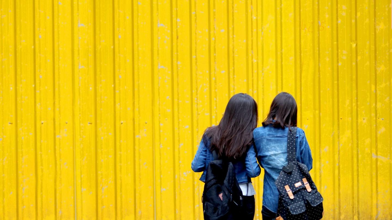 lume, geel, vrouw, yellow,
