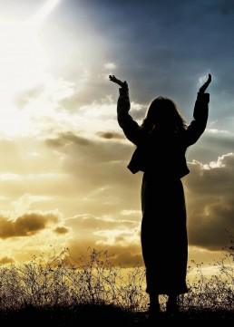 praise, woman, licht, God, loven
