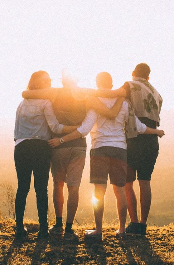 lume, licht, donker, vrienden, friends, depressie