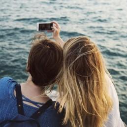vrouw, licht, zomer, vakantie