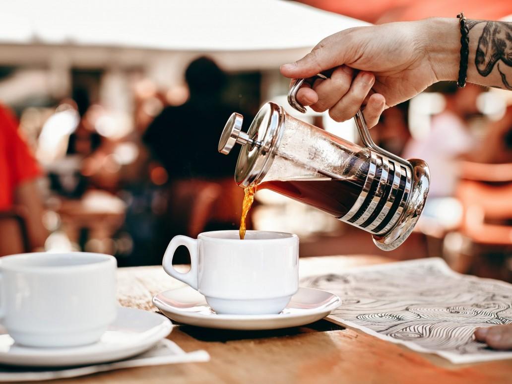 dienen, koffie, Lume