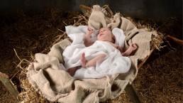 jesus, knielen, kribbe, kerst
