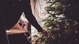 kerst, advent, lume, vrouw