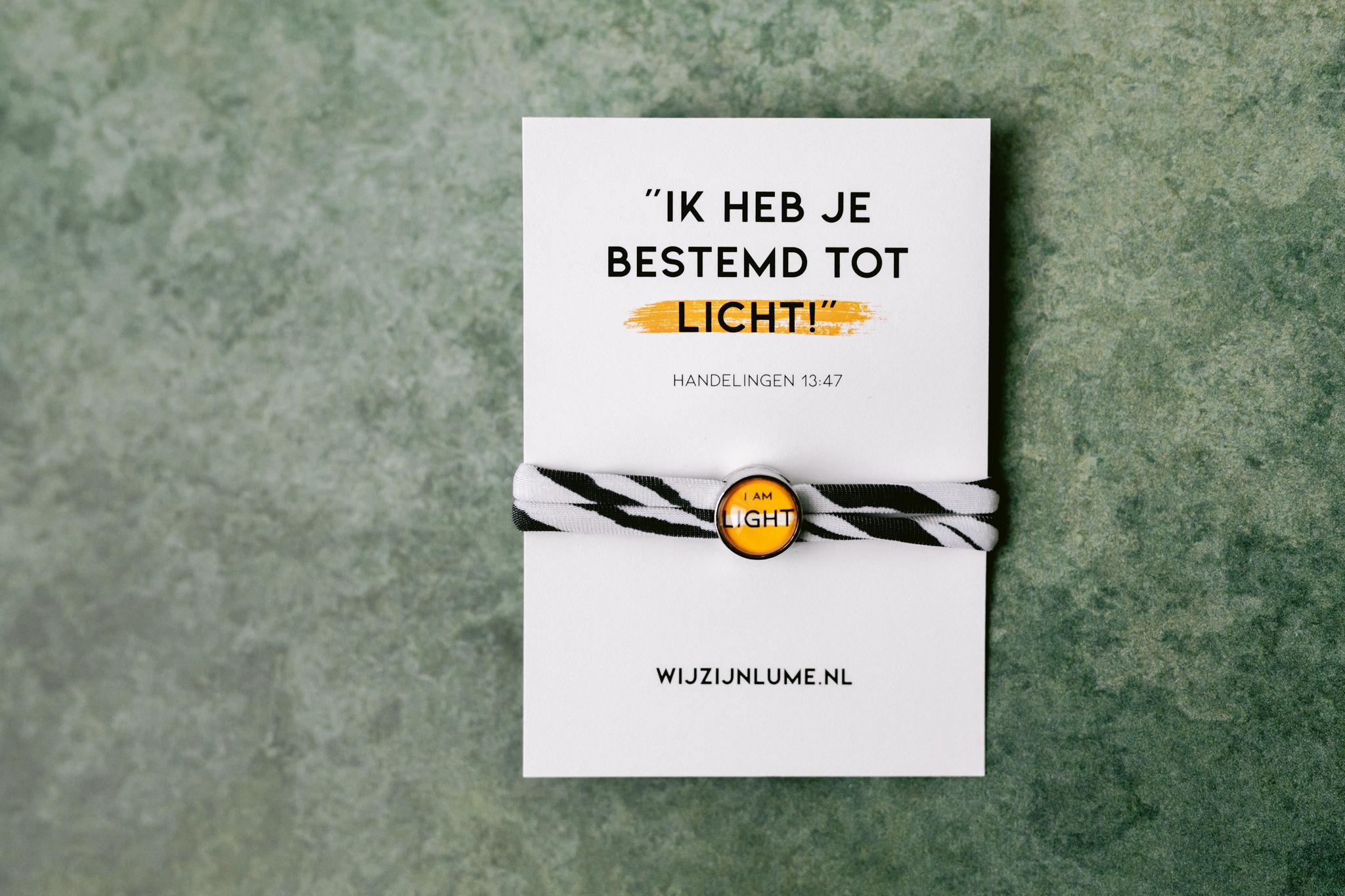 armbandje, LUME, I am Light