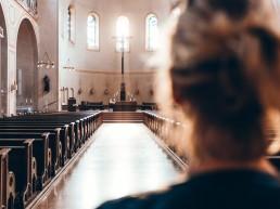 lume, vrouw, kerk, gebed, domkerk