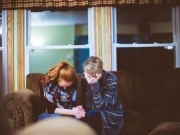 gebed, bidden, vrouw, hardop