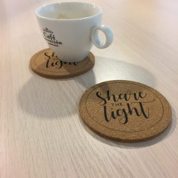 onderzetters, share the light