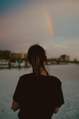 Rainbow, Woman, Lume