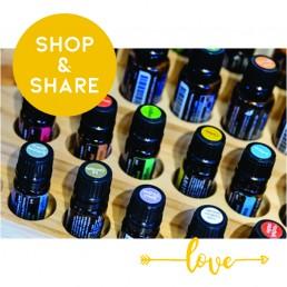 Oliën, shop en share actie