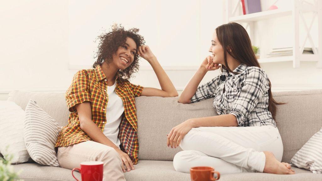 women, woman, lume, licht, gesprek