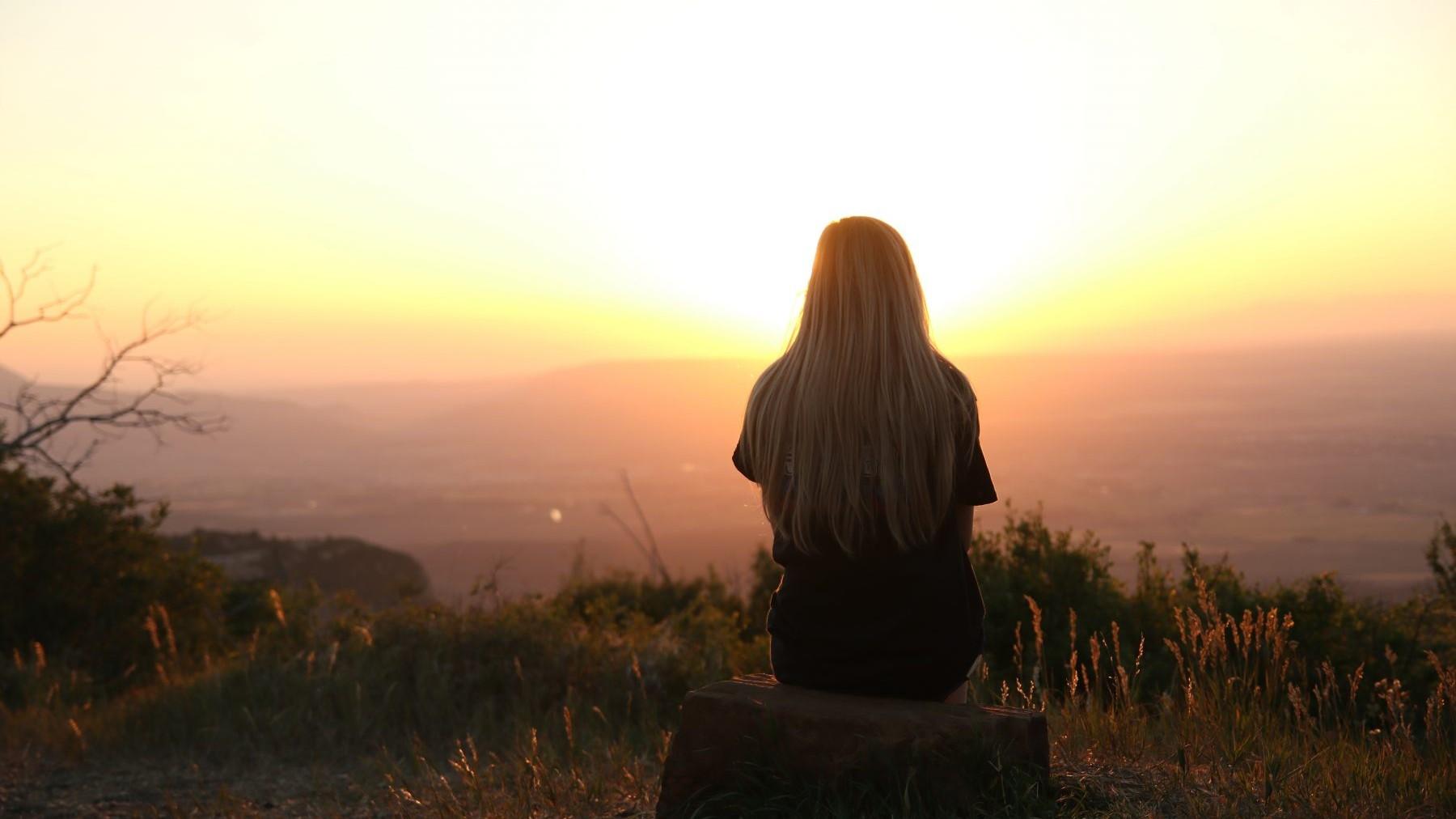 Woman, Lume, Sunset, zonnetje