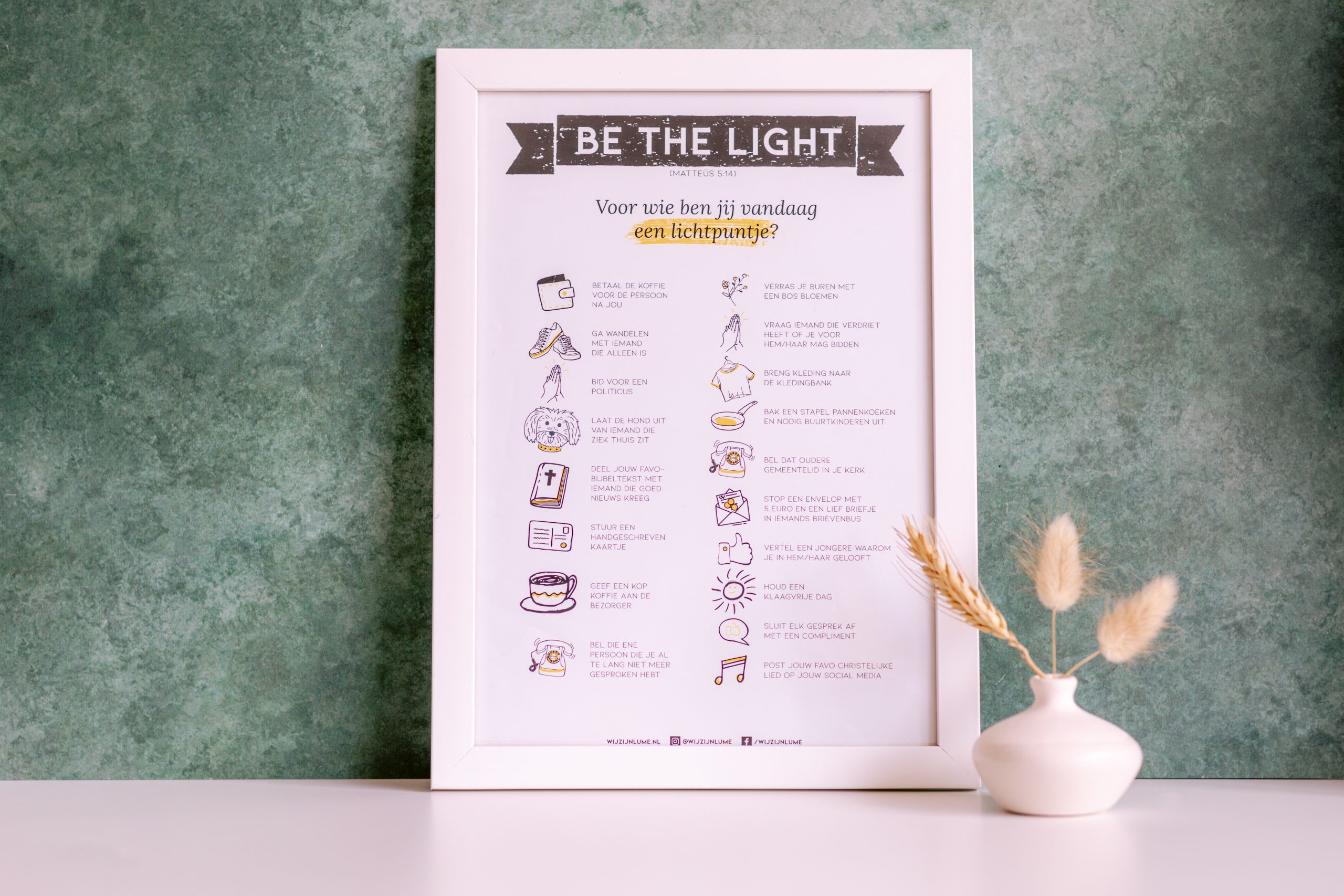Poster be the light