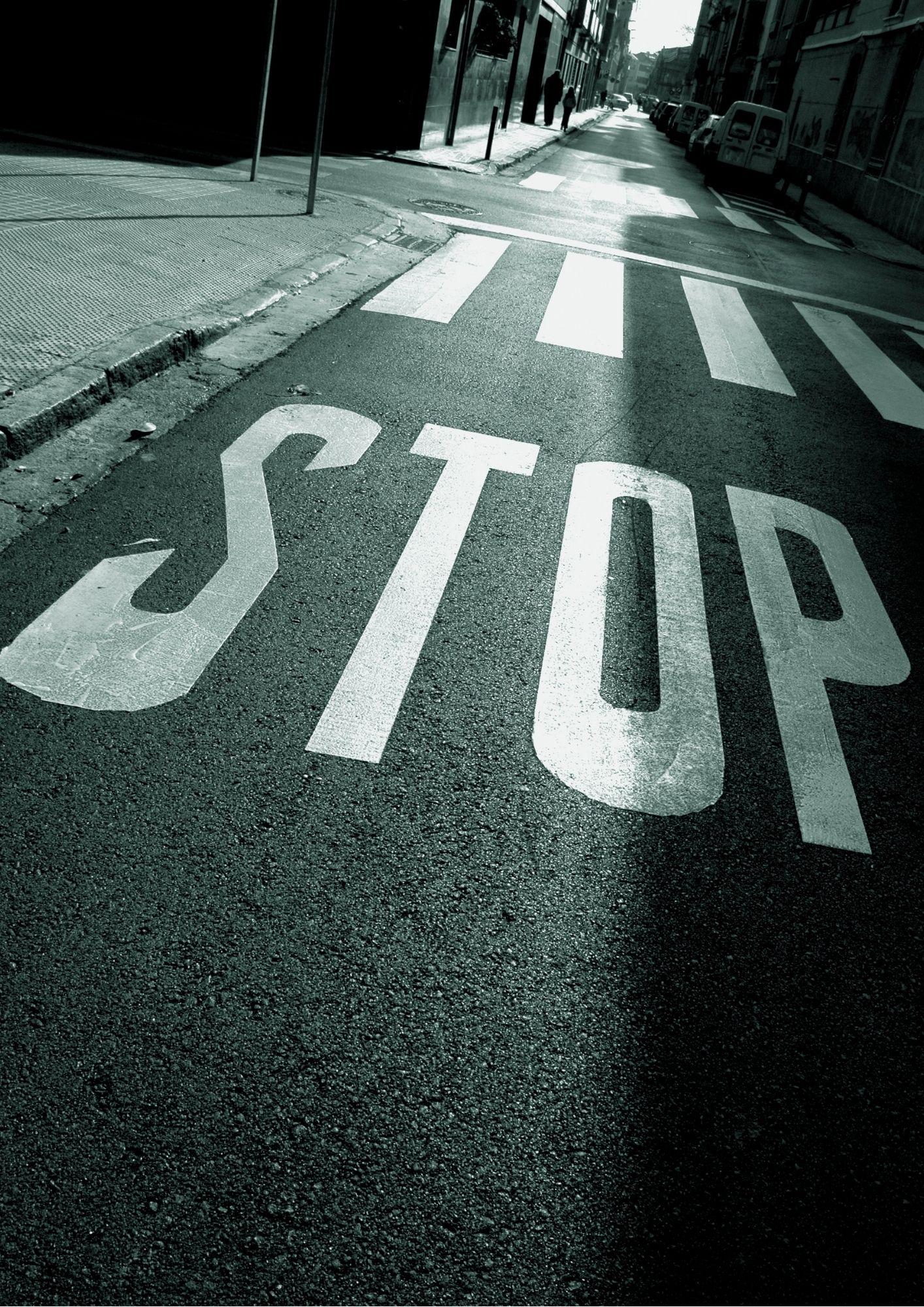 stop, schaduw, pijn