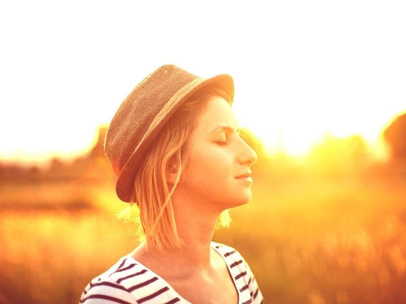 zon, licht, vrouw, lume stille tijd