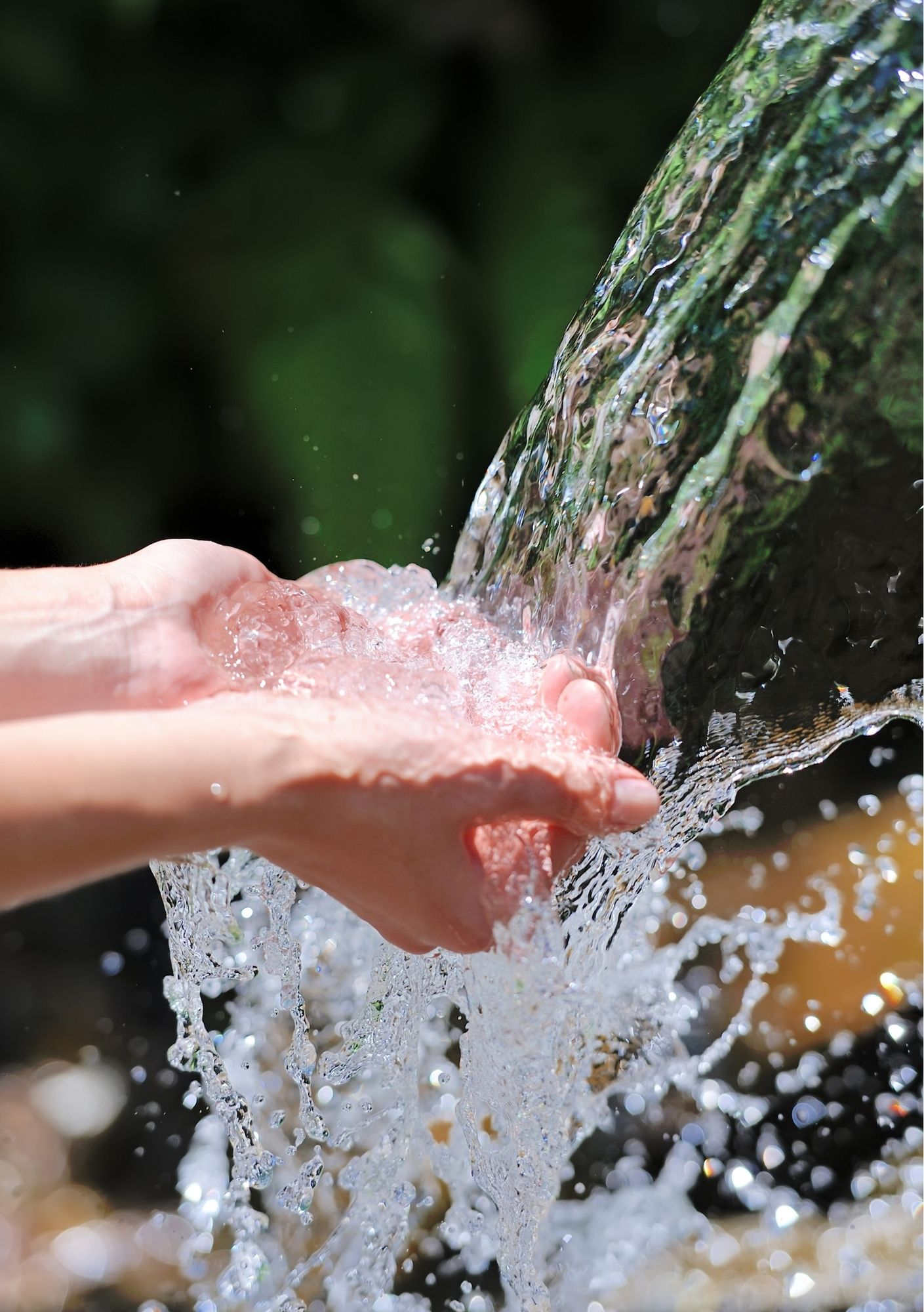 bron, water, wacht